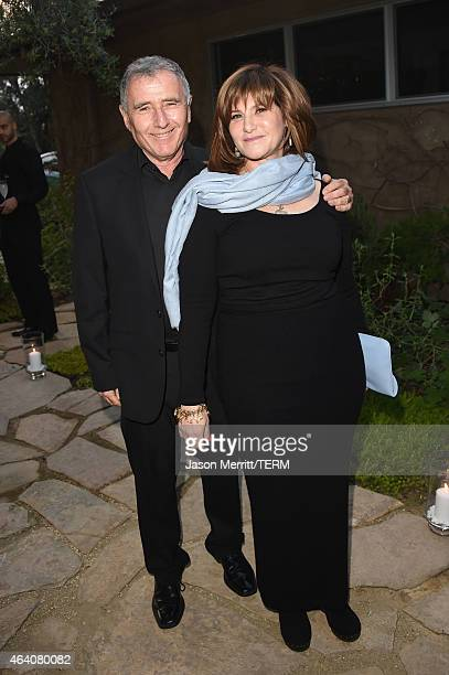 Amy Pascal and Bernard Weinraub attend Sony Pictures Entertainment Celebrates its' Nominees along with GREY GOOSE Vodka at Private Residence on...