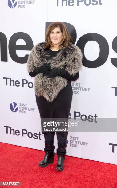 Amy Pascal attends the 'The Post' Washington DC Premiere at The Newseum on December 14 2017 in Washington DC