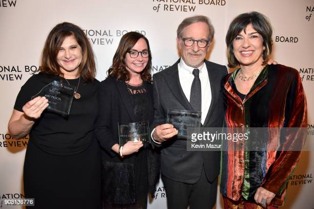 Amy Pascal Kristie Macosko Krieger and Steven Spielberg and Christiane Amanpour attend the National Board of Review Annual Awards Gala at Cipriani...