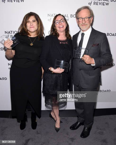 Amy Pascal Kristie Macosko Krieger and Steven Spielberg attend the National Board of Review Annual Awards Gala at Cipriani 42nd Street on January 9...