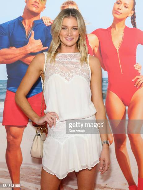 Amy Pejkovic arrives ahead of the Australian Premiere of 'Baywatch' on May 18 2017 in Sydney Australia
