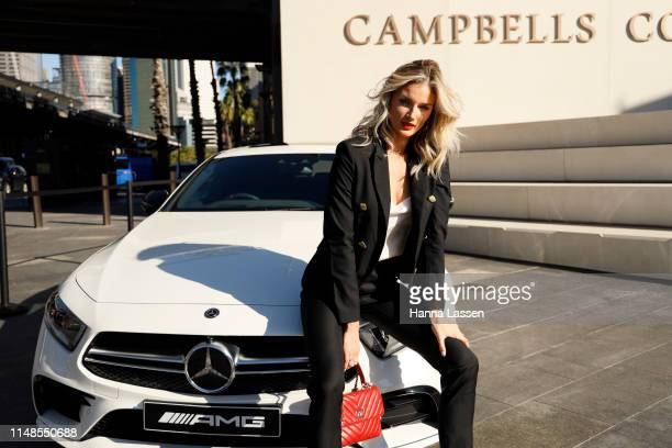 Amy Pejkovic attends Mercedes-Benz Fashion Week Resort 20 Collections on May 12, 2019 in Sydney, Australia.