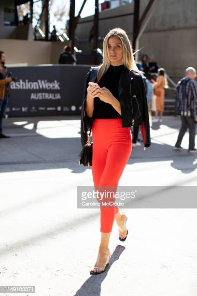 Amy Pejkovic wearing Desordre Boutique at MercedesBenz Fashion Week Resort 20 Collections on May 15 2019 in Sydney Australia