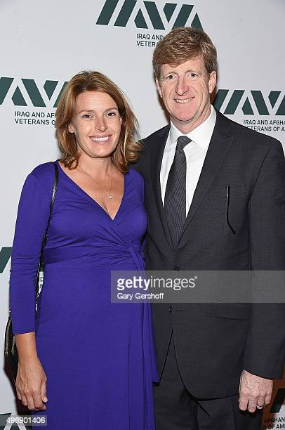 Amy Petitgout and Patrick Kennedy attend the 9th Annual IAVA Heroes Gala at Cipriani 42nd Street on November 12 2015 in New York City