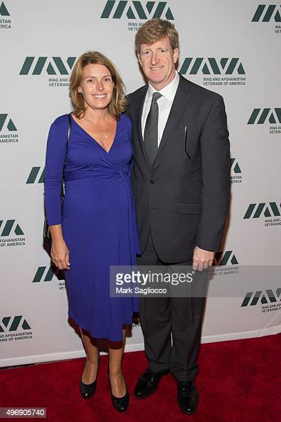 Amy Petitgout Kennedy and Former US Representative and IAVA Board Member Patrick Kennedy attends the 9th Annual IAVA Heroes Gala at Cipriani 42nd...