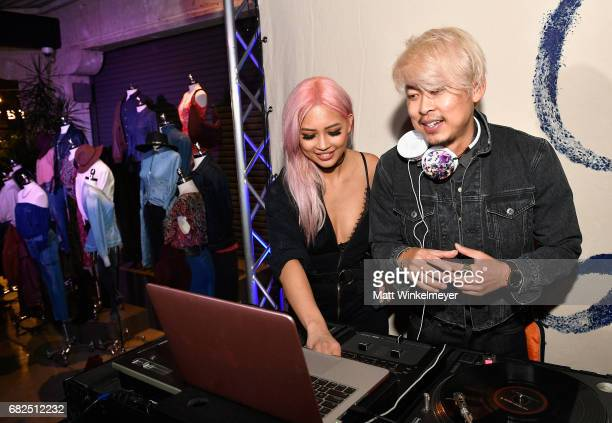 Amy Pham and DJ Minh Pham at Lucky Brand Presents Lucky Lives On FW 2017 Preview on May 12 2017 in Los Angeles California