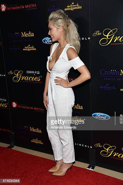 Amy Pham arrives at the 40th Anniversary Gracies Awards at The Beverly Hilton Hotel on May 19 2015 in Beverly Hills California