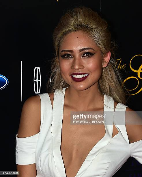 DJ Amy Pham poses on arrival for the 40th anniversary of the Gracies Awards in Beverly Hills California on May 19 presented by The Alliance for Women...