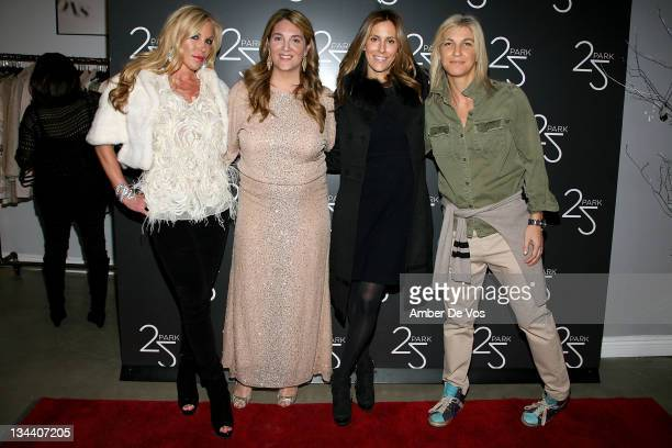 Amy Phelan Alison Brettschneider Cristina Cuomo and Stacey Griffith attend the grand opening of the 25 Park flagship store on December 16 2010 in New...