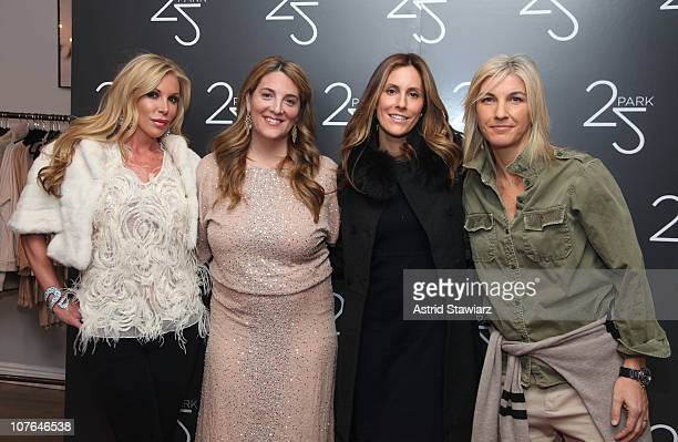 Amy Phelan Owner of 25 Park Alison Brettschneider Cristina Greeven Cuomo and Stacey Griffith attend the Grand Opening of 25 Park Flagship Store at 25...