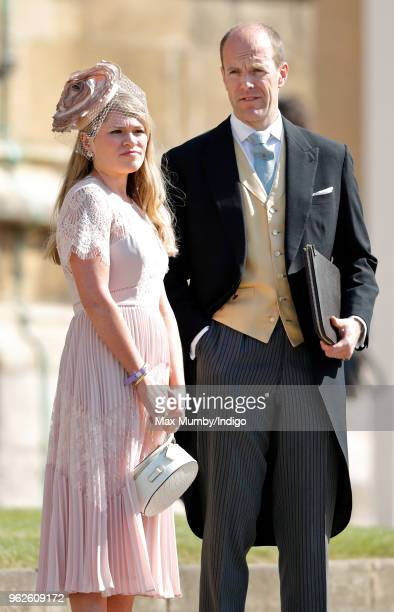 Amy Pickerill and Ed Lane Fox attend the wedding of Prince Harry to Ms Meghan Markle at St George's Chapel Windsor Castle on May 19 2018 in Windsor...