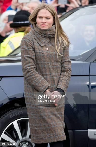 Amy Pickerill at Edinburgh Castle on February 13 2018 in Edinburgh Scotland