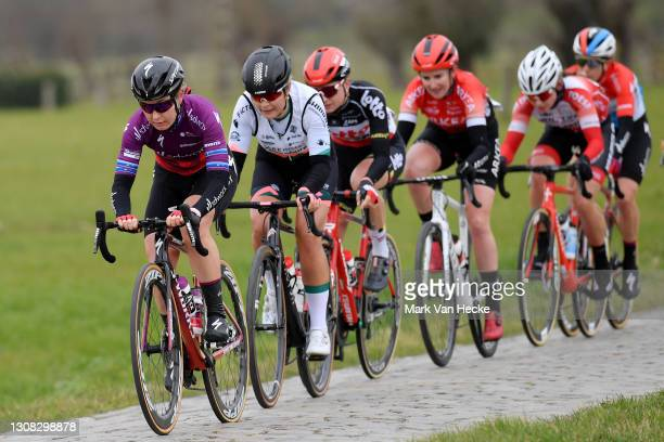 Amy Pieters of Netherlands and Team SD Worx & Christine Majerus of Luxembourg and Team SD Worx during the Omloop van de Westhoek - Memorial Stive...
