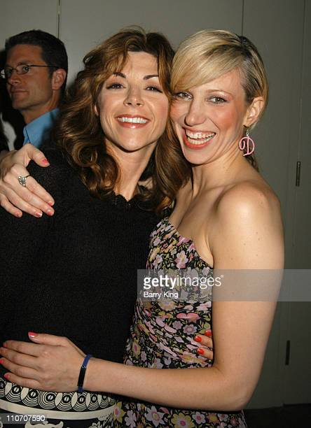 Amy Pietz and Deborah Gibson during Reprise Broadway's Best 'Company' Play Opening at UCLA's Freud Playhouse in Los Angeles California United States