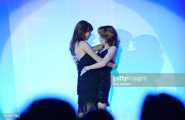 Amy Pietz and Lea Thompson during The Alzheimer's Association's 14th Annual 'A Night at Sardi's' Celebrity Fundraiser and Awards Dinner Show at...
