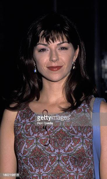 Amy Pietz attends NBC TV Primetime Upfront Party on May 15 2000 at Ruby Foo's in New York City