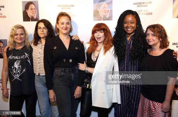 Amy Poehler Abbi Jacobson Jacqueline Novak Natasha Lyonne Phoebe Robinson and Rachel Dratch attend the OffBroadway Opening Night of Jacqueline Novak...