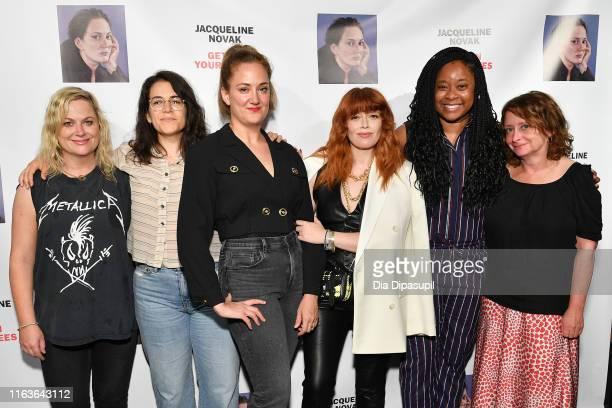 Amy Poehler Abbi Jacobson Jacqueline Novak Natasha Lyonne Phoebe Robinson and Rachel Dratch attend the opening night of Jacqueline Novak Get on Your...