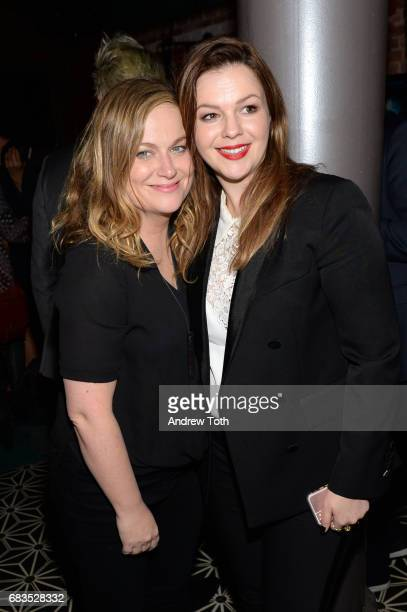 Amy Poehler and Amber Tamblyn attend the 'Paint It Black' New York premiere after party at Fishbowl at the Dream Hotel on May 15 2017 in New York City