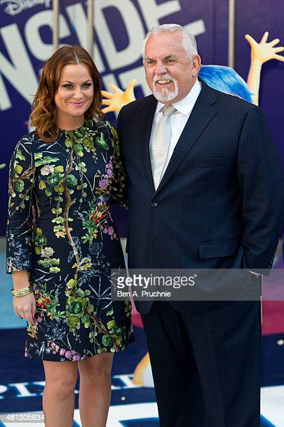 Amy Poehler and John Ratzenberger attends the UK Gala Screening of 'Inside Out' at Odeon Leicester Square on July 19 2015 in London England