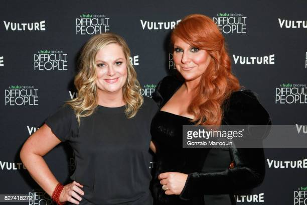 Amy Poehler and Julie Klausner attend the 'Difficult People' Screening at Crosby Hotel on August 7 2017 in New York City