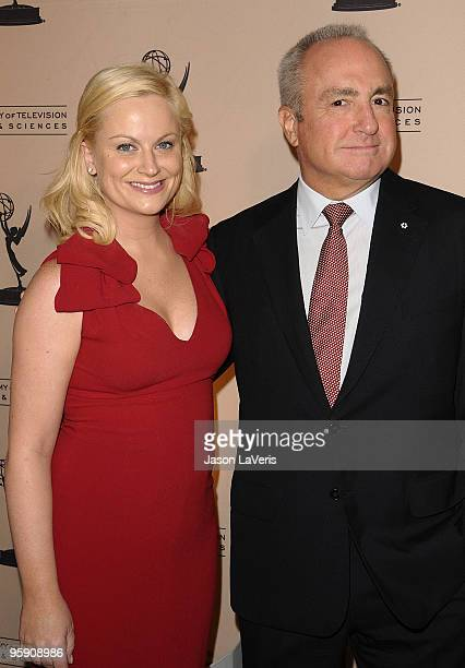 Amy Poehler and Lorne Michaels attend the Academy of Television's 19th annual Hall of Fame induction gala at Beverly Hills Hotel on January 20 2010...