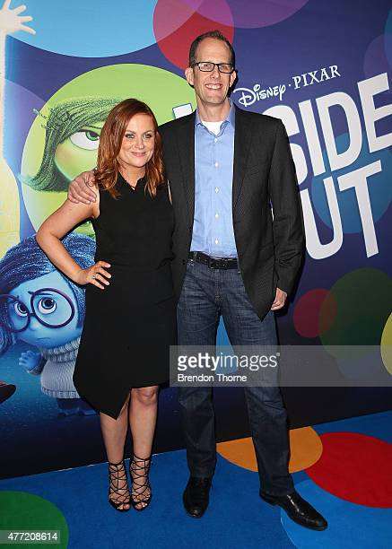 Amy Poehler and Peter Docter arrive at the Australian premiere of 'Inside Out' at Event Cinemas George Street on June 15 2015 in Sydney Australia