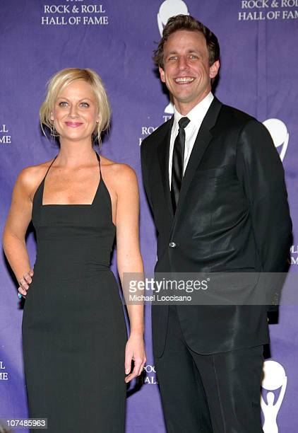 Amy Poehler and Seth Meyers during 22nd Annual Rock and Roll Hall of Fame Induction Ceremony Press Room at Waldorf Astoria in New York City New York...