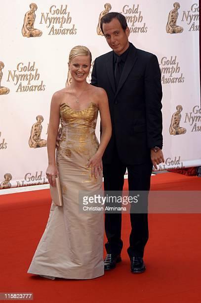Amy Poehler and Will Arnett during 45th Monte Carlo Television Festival Closing Award Ceremony at Grimaldi Forum in Monte Carlo Monaco