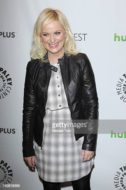 Amy Poehler arrives at the 2012 PaleyFest 'Parks Recreation' held at Saban Theatre on March 6 2012 in Beverly Hills California