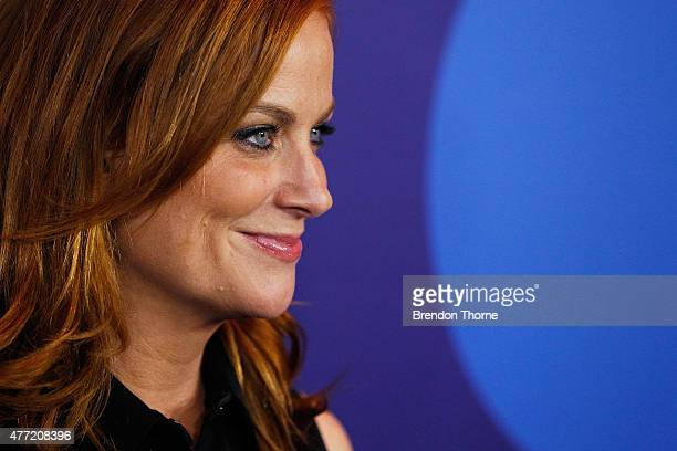 Amy Poehler arrives at the Australian premiere of Inside Out at Event Cinemas George Street on June 15 2015 in Sydney Australia