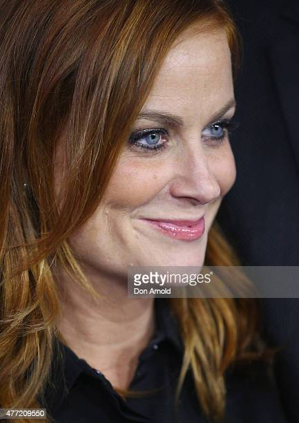 Amy Poehler arrives at the Australian premiere of 'Inside Out' at Event Cinemas George Street on June 15 2015 in Sydney Australia