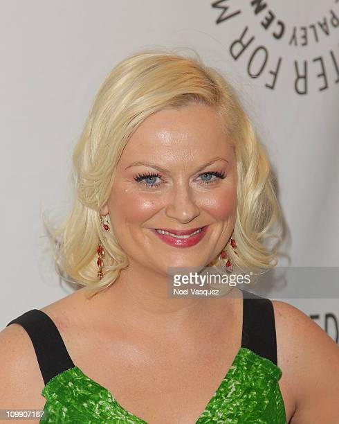 Amy Poehler attends Paley Center for Media's Paleyfest 2011 event honoring Parks Recreation at Saban Theatre on March 9 2011 in Beverly Hills...