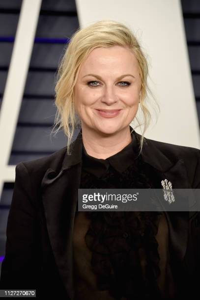 Amy Poehler attends the 2019 Vanity Fair Oscar Party hosted by Radhika Jones at Wallis Annenberg Center for the Performing Arts on February 24 2019...