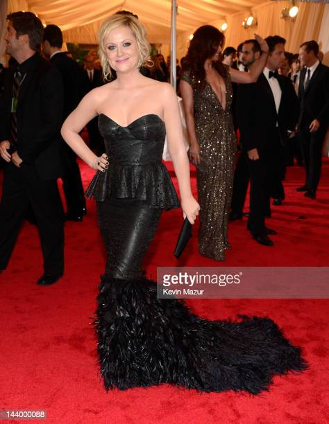 Amy Poehler attends the 'Schiaparelli And Prada Impossible Conversations' Costume Institute Gala at the Metropolitan Museum of Art on May 7 2012 in...