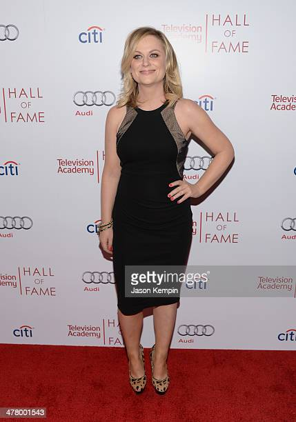 Amy Poehler attends The Television Academy's 23rd Hall Of Fame Induction Gala at Regent Beverly Wilshire Hotel on March 11 2014 in Beverly Hills...