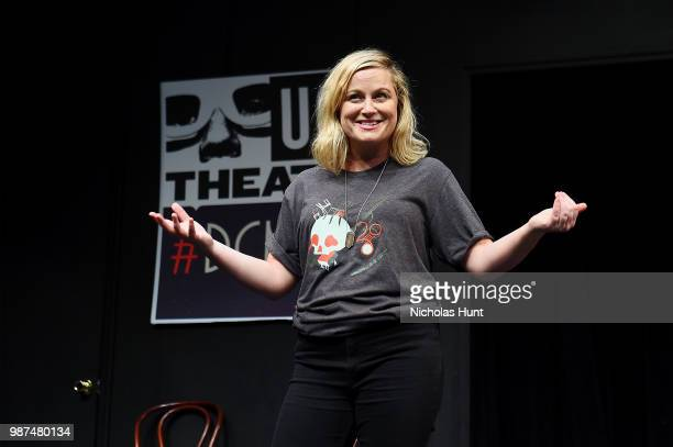 Amy Poehler attends the UCB's 20th Annual Del Close Improv Marathon Press Conference at UCB Theatre on June 29 2018 in New York City