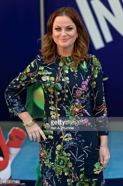 Amy Poehler attends the UK Gala Screening of 'Inside Out' at Odeon Leicester Square on July 19 2015 in London England