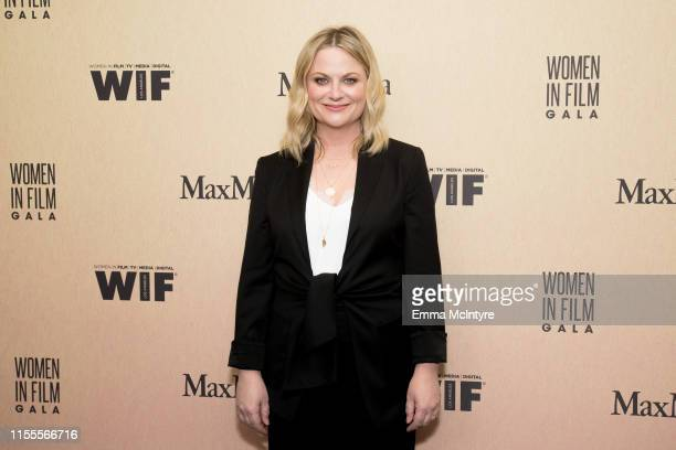 Amy Poehler attends the Women in Film Annual Gala 2019 presented by Max Mara at The Beverly Hilton Hotel on June 12, 2019 in Beverly Hills,...