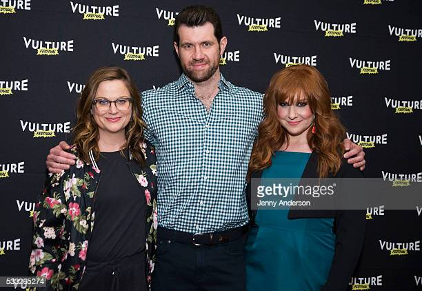 Amy Poehler Billy Eichner and Julie Klausner attend 2016 Vulture Festival at Milk Studios on May 21 2016 in New York City