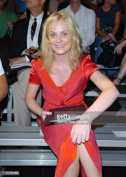 Amy Poehler during Olympus Fashion Week Spring 2006 Marc by Marc Jacobs Front Row at The Armory in New York City New York United States