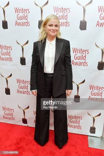 Amy Poehler poses backstage at the 72nd Writers Guild Awards at Edison Ballroom on February 01 2020 in New York City
