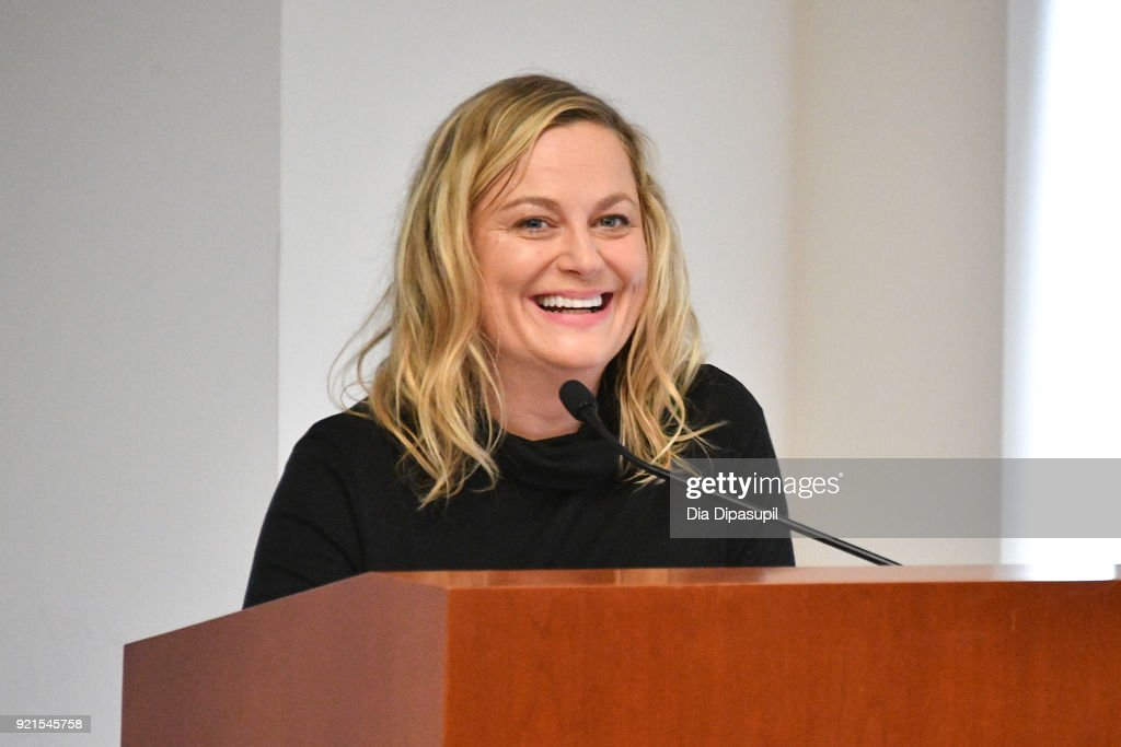 Amy Poehler speaks during the One Fair Wage Event at the Rockefeller Foundation on February 20, 2018 in New York City.