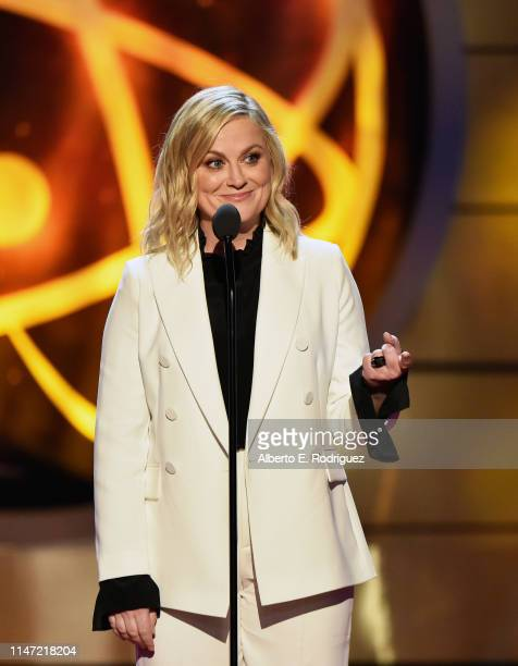 Amy Poehler speaks onstage at the 46th annual Daytime Emmy Awards at Pasadena Civic Center on May 05 2019 in Pasadena California