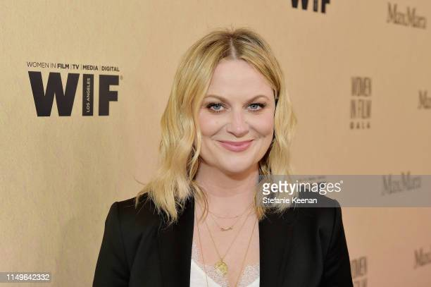 Amy Poehler, wearing Max Mara, attends the 2019 Women In Film Annual Gala Presented by Max Mara with additional support from partners Delta Air Lines...