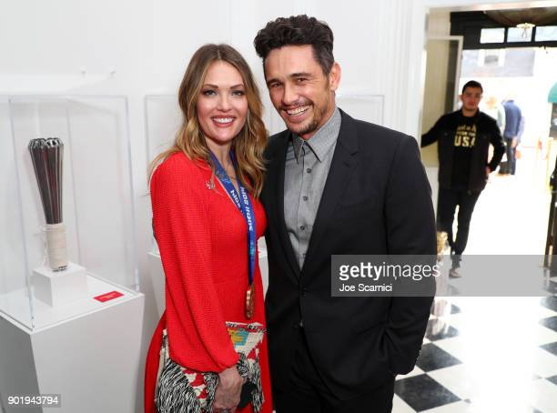 Amy Purdy and James Franco attend GOLD MEETS GOLDEN The 5th Anniversary Refreshed by CocaCola Globes Weekend Gets Sporty with Nicole Kidman and...