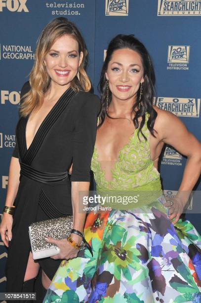 Amy Purdy and Katie Uhlaender attend the FOX FX and Hulu 2019 Golden Globe Awards After Party at The Beverly Hilton Hotel on January 6 2019 in...