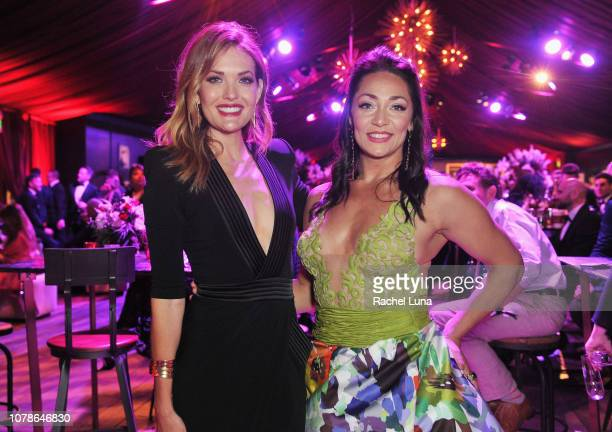 Amy Purdy and Katie Uhlaender attend the official viewing and after party of The Golden Globe Awards hosted by The Hollywood Foreign Press...