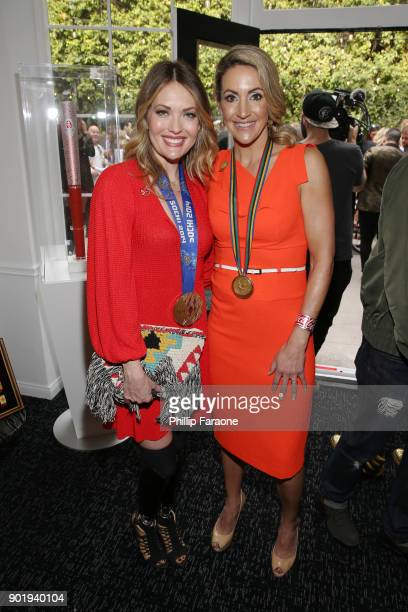 Amy Purdy and Summer Sanders attend GOLD MEETS GOLDEN The 5th Anniversary Refreshed by CocaCola Globes Weekend Gets Sporty with Nicole Kidman and...