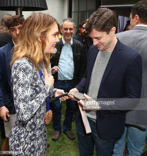 Amy Purdy and Topher Grace attend The 6th Annual 'Gold Meets Golden' Brunch hosted by Nicole Kidman and Nadia Comaneci and presented by CocaCola at...